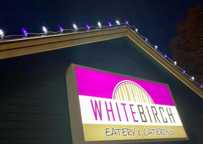 Commercial Lighting Display - White Birch Eatery