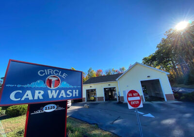 Commercial Lighting Display - Circle T Car Wash