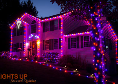 Residential Halloween Lighting Display - Goffstown, NH