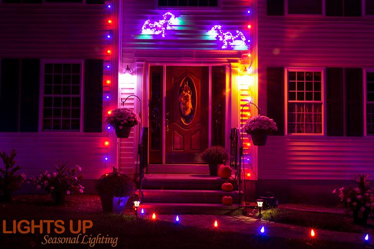 Residential Halloween Lighting Display - Goffstown, NH