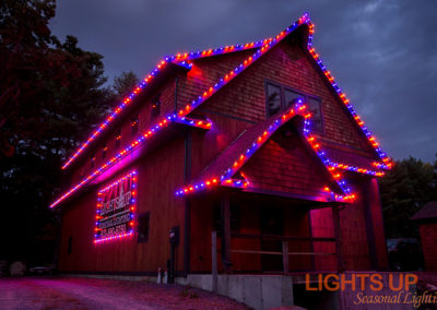 Residential Halloween Lighting Display - Merrimack, NH