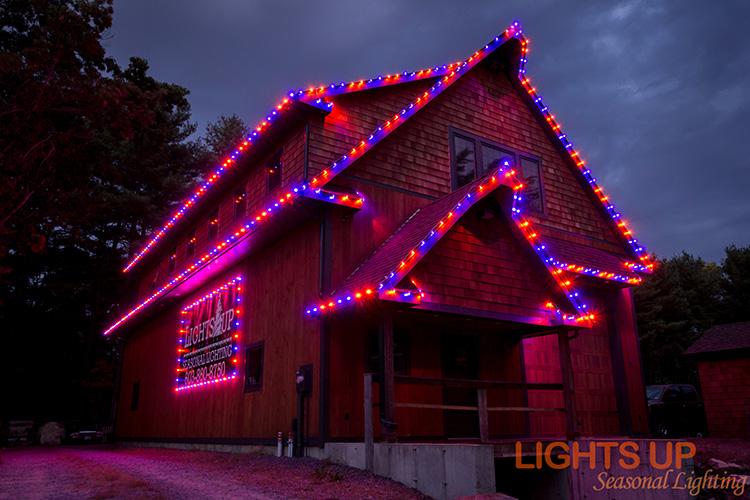 Residential Halloween Lighting Display - Merrimack, NH