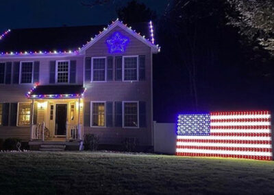 Fourth of July Lighting Display