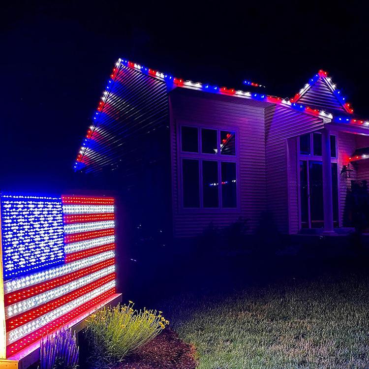 Fourth of July Lighting Display