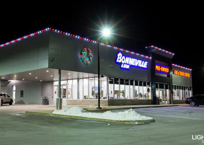Commercial Christmas Lighting Display - Bonneville & Son