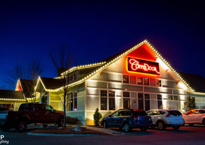 Commercial Christmas Lighting Display - Cooper Door Restaurant