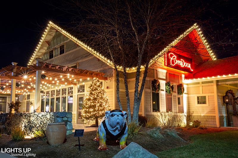 Commercial Christmas Lighting Display - Cooper Door Restaurant