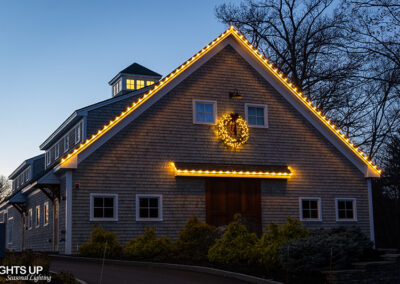 Commercial Christmas Lighting Display - Manchester Country Club