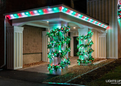 Commercial Christmas Lighting Display - Melcher & Prescott